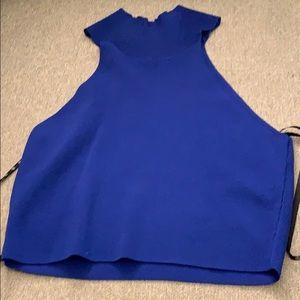 cobalt blue crop top
